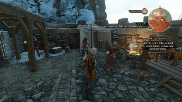 Kaer Trolde armorer in The Witcher 3 Wild Hunt