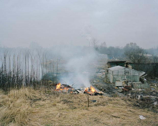 Burned down allotments in Voleri, 2014.