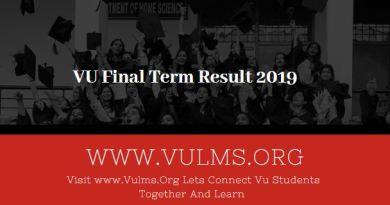 vu result 2019