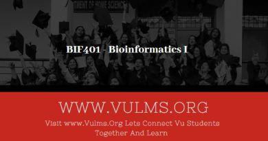 BIF401 - Bioinformatics I