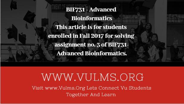 BIF731 - Advanced Bioinformatics
