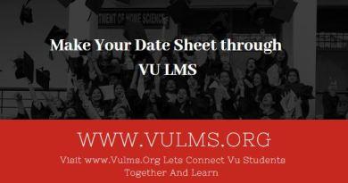 VULMS date sheet