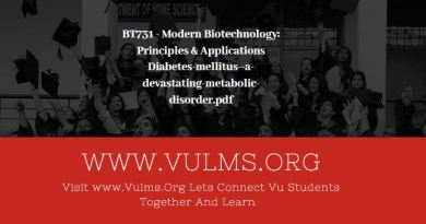 BT731 - Modern Biotechnology: Principles & Applications