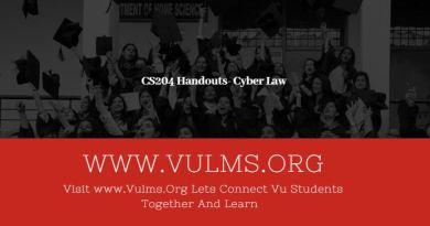CS204 Handouts- Cyber Law