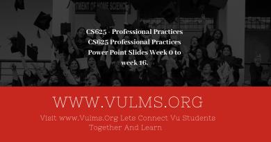 CS625 - Professional Practices