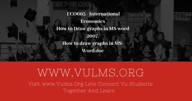 ECO603 - International Economics