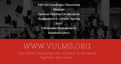 EDU305 handouts-Classroom Management