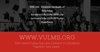 EDU301 - General Methods of Teaching
