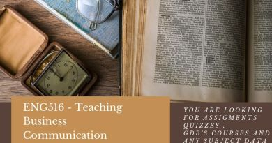 ENG516 - Teaching Business Communication