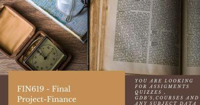 FIN619 - Final Project-Finance