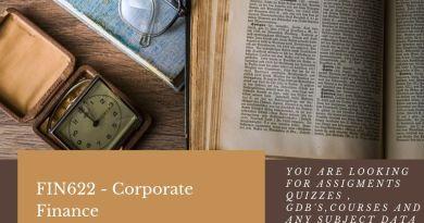 FIN622 - Corporate Finance