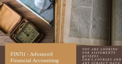 FIN711 - Advanced Financial Accounting