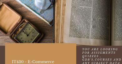 IT430 - E-Commerce