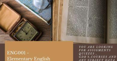 ENG001 - Elementary English