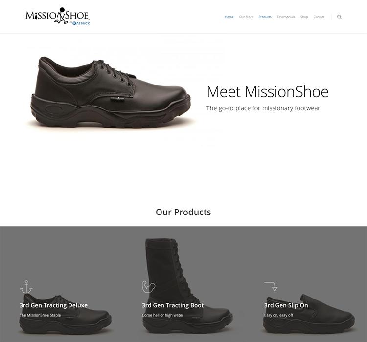 MissionShoe - Idaho Falls Web Design