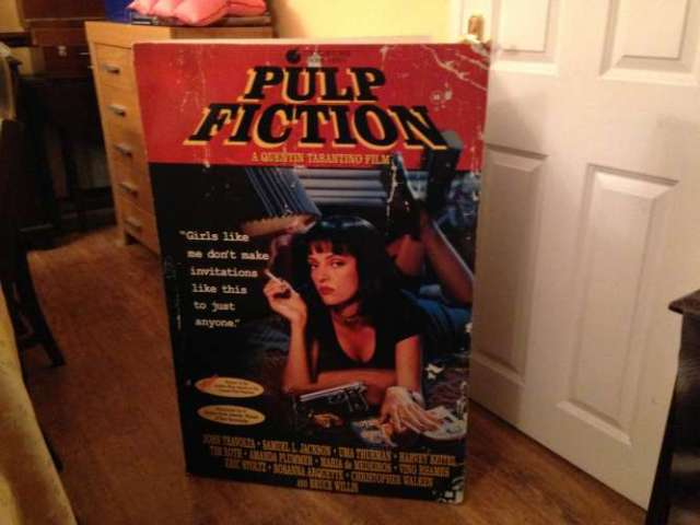 Pulp Fiction Movie Display - Front