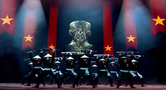 'This is the Hour' - dancing chorus members mark the third anniversary of the reunification of Vietnam