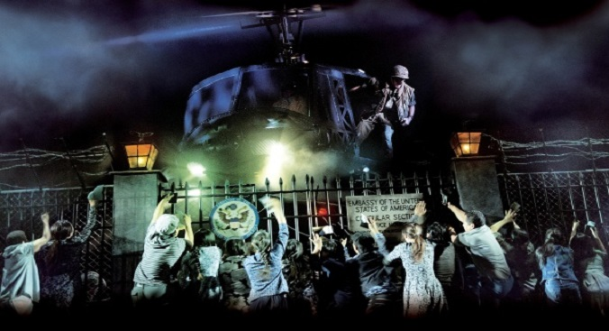 The famous helicopter in the Fall of Saigon scene