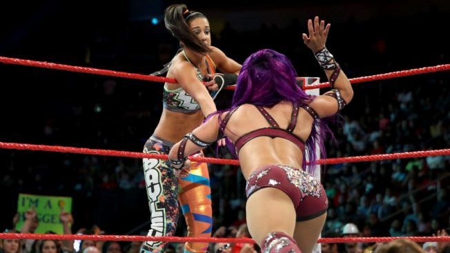 Sasha Banks tags Bayley
