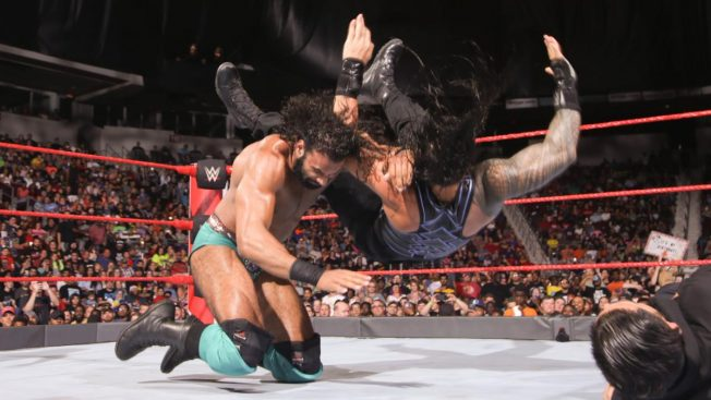 Jinder Mahal gives Roman Reigns a Khallas