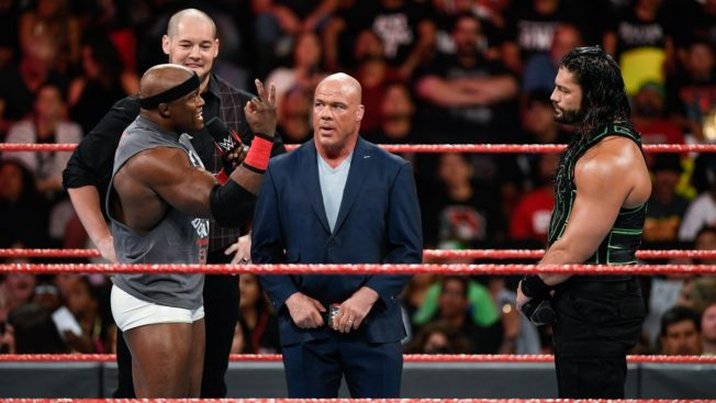 Roman Reigns, Bobby Lashley, Kurt Angle and Baron Corbin
