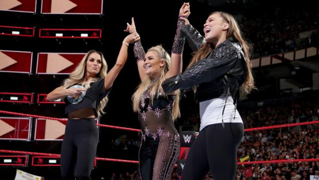 Trish Stratus, Natalya, and Ronda Rousey
