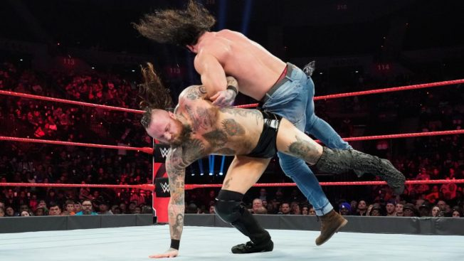 Aleister Black takes down Elias
