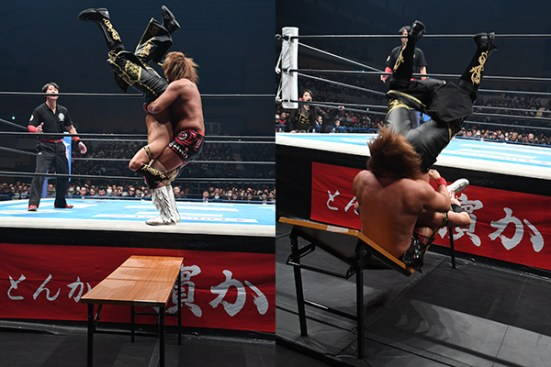 A Piledriver through the table