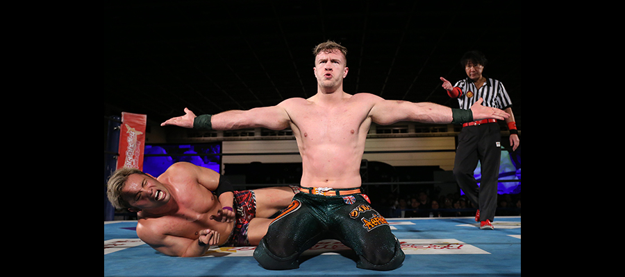 Ospreay strikes a pose