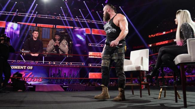 Alexa Bliss tries to broker peace between Strowman the Che and Jost