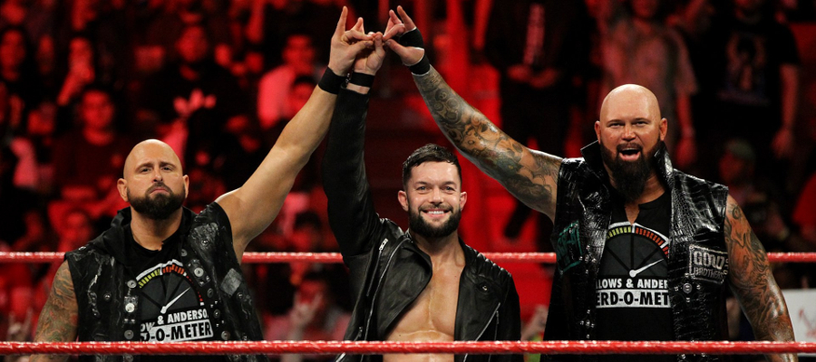 Karl Anderson, Finn Balor and Luke Gallows together as Balor Club