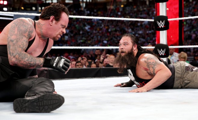 The Undertaker and Bray Wyatt battled at WrestleMania