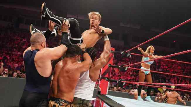 Drake Maverick being carried by the mid-card
