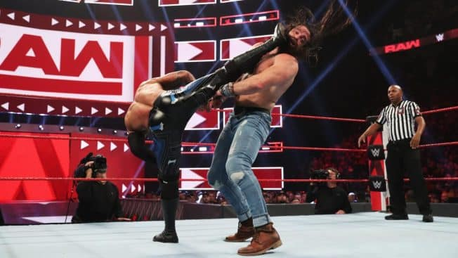 Ricochet superkicks Elias