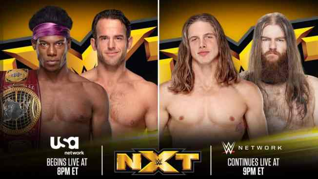 Advert for NXT's tv debut main events