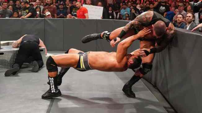Rusev destroys Randy Orton and Baron Corbin