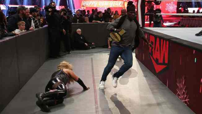 R-Truth interrupts the only women's division match