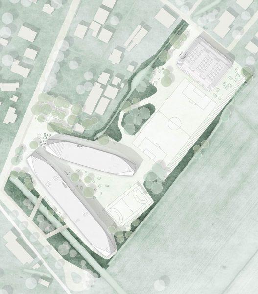 Lageplan Neubau Stadtteilschule Kirchwerder