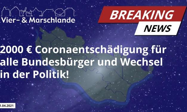 2000€ Coronaentschädigung für alle Bürger und weitere Corona-News