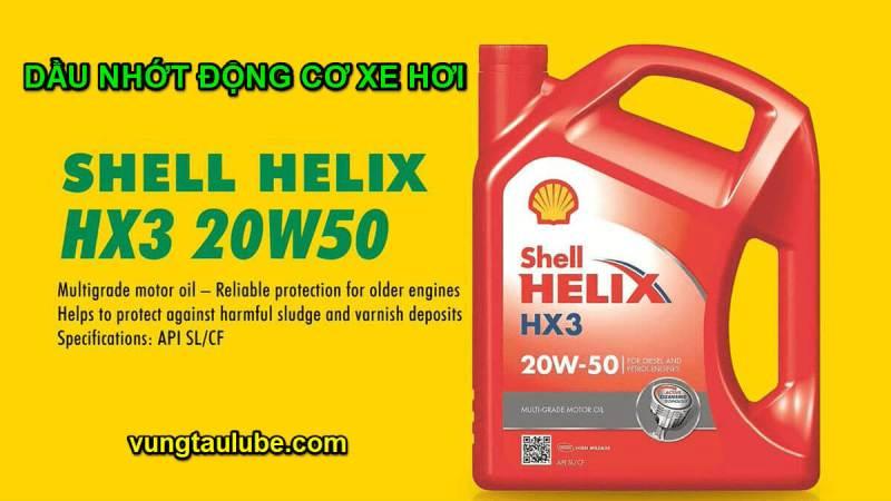 Shell Helix HX3 – Dầu nhớt động cơ dành cho xe hơi cũ