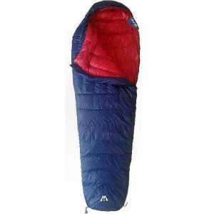 Light Weight Sleeping Bag Vuno Big Blue Puffer -5-10°C Winter partly open