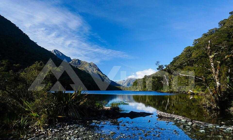 The beautiful Lake Howden on Day 3 Routeburn Track