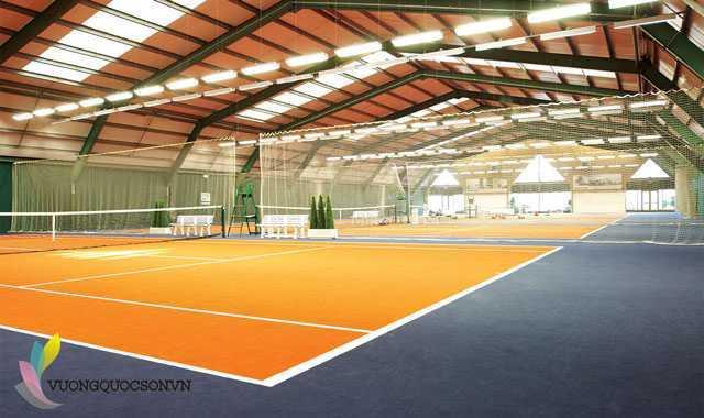 Thi công sơn Epoxy sân Tennis