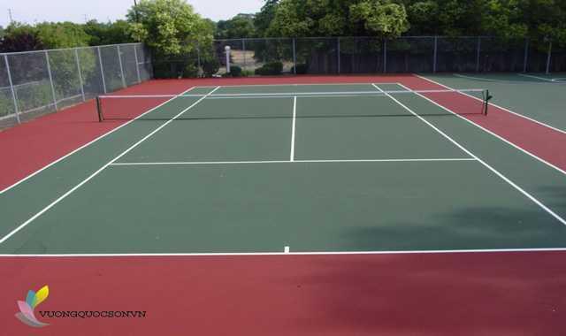Quy trình hướng dẫn Thi công sơn sân tennis