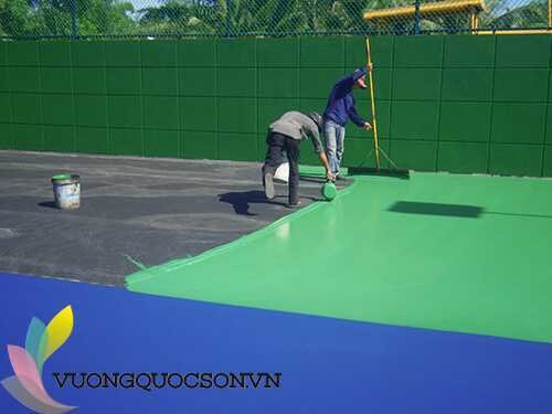 Hướng Dẫn Thi Công Sơn Lót Tennis Terraco Flexipave Primer