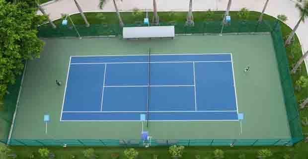 Quy Trình Thi Công Sơn Lại Mặt Sân Tennis