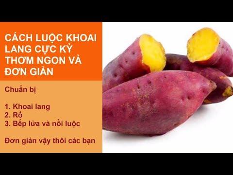 hướng dẫn luộc khoai lang ngon - Cách luộc khoai lang thơm ngon bằng nồi cơm điện