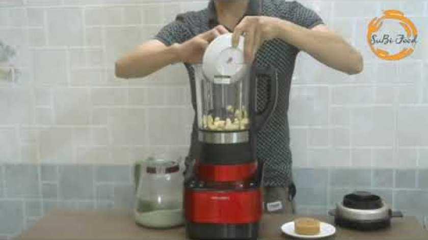 cách nấu khoai lang - CÁCH NẤU SỬA KHOAI LANG MẬT + MÈ ĐEN + HẠT MACCA   SỬA HẠT CHO NGƯỜI GẦY   NẤU VỚI MÁY RANBEM
