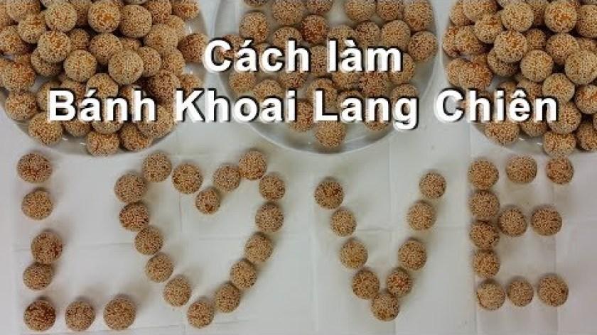 hướng dẫn làm bánh khoai lang - BÁNH KHOAI LANG CHIÊN, FRYED CRISPY SWEET POTATO - toan trinh cook