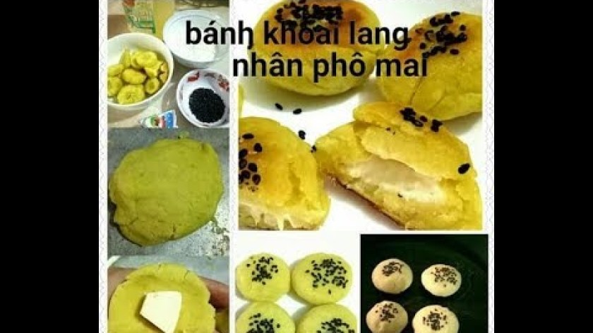 cách nấu khoai lang cho bé ăn dặm - Cách Làm Bánh Khoai Lang Nhân Phô Mai Cho Bé Cực Ngon